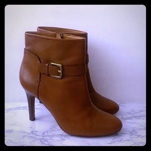 Coach Tan Leather Ankle Boots sz 8 1/2